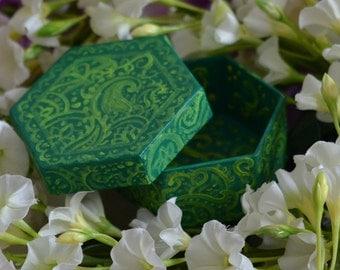 Tropical garden box / / tropical garden jewelry box