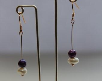 Two Coloured Pearl Earrings