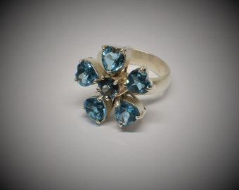 Silver Ring with Topaz #R0007