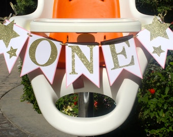 Twinkle Twinkle Little Star One High Chair Banner