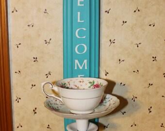Teacup bird feeder, China Cup Bird feeder, Garden Decor, Yard Art, Vintage Teacup, Bird, Outdoor
