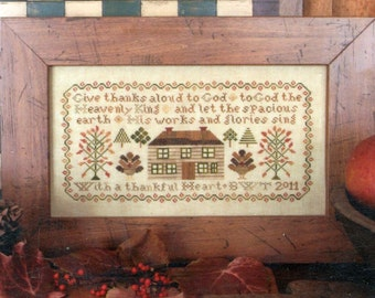 Harvest Sampler by Heartstring Samplery Counted Cross Stitch Pattern/Chart