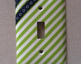 Lime Green/Navy Blue Switch Plate