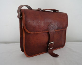 Leather Briefcase,MacBook Satchel Suitcase, Laptop Briefcase, 13 inch laptop leather bag