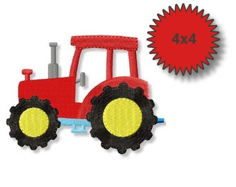 Tractor - Machine Embroidery  Designs - 4x4 - Instant Download