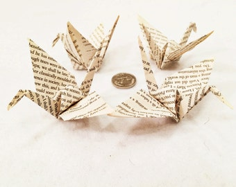 Large Bookish Paper Cranes