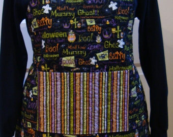 Boo Ghost--Women's Quilted Apron