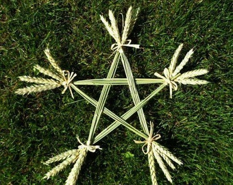 Wheat Pentacle wall decor
