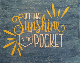 Sunshine in My Pocket Canvas Art