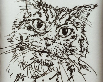 Custom miniature pet portrait