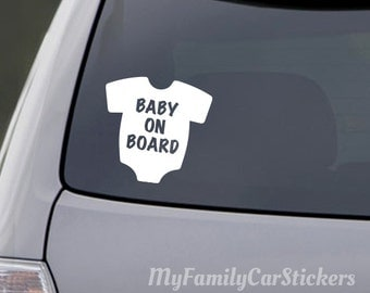 Baby On Board Car Decal Vinyl Car Decal Baby Car Decal Car Vinyl Decal Car Window Decal Baby On Board Decal Car Decal Baby Car Baby Decal