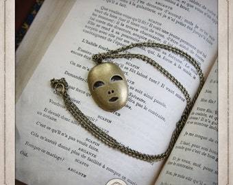 Theater comedy tragedy actor antique scene COP006 mask mask bronze necklace