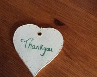Thankyou personalised heart