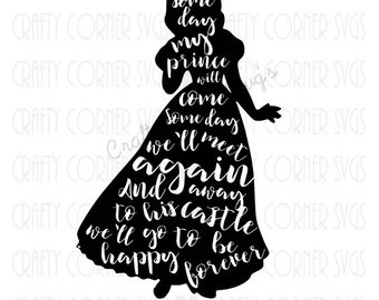 SVG-Some day my prince will come-Disney (inspired)-Snow White svg-Cute SVG-Instant Download-Digital File-snow white design-cricut cut file
