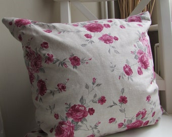 Vintage style Rose print cushion
