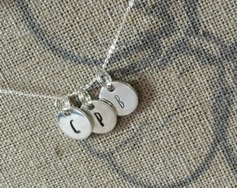 Hand Stamped Personalised Silver Necklace