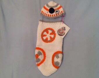 BB-8 Crochet Baby Cocoon