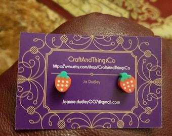 Strawberry handmade earings