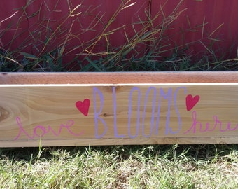 Hand-made, Hand-lettered Planter Box