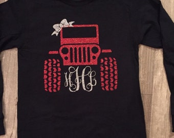 Jeep Shirt, Jeeps, Monogrammed Jeep Shirt, Monogrammed Shirts, Women's Shirts