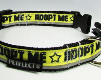 Adopt Me Reflective Dog Collar