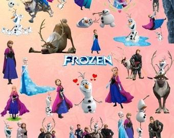 60 Frozen Clipart Frozen Stickers Frozen Digital Clipart Frozen Printable Frozen Art