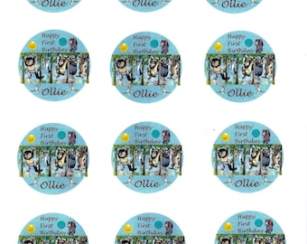 Customized Precut Where the Wild Things Are Cupcake Toppers- available for cakes and cookies also