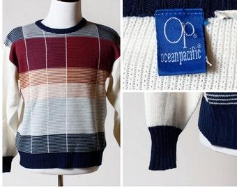 Vintage Men's Sweater OP Ocean Pacific - Retro 80's Large L