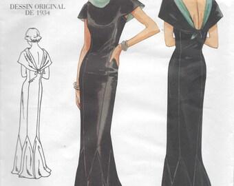 1934 Vintage VOGUE Sewing Pattern B40-42-44 DRESS (R949) Vogue 2609