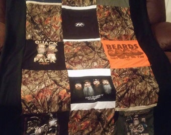 Duck Dynasty t-shirt quilt