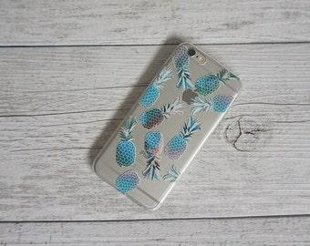 Spicy Pineapple Summer Design Soft Mobile Phone Case - for; iPhone 5/5s, 5c, 6/6s, 6/6s Plus, SE, 7, 7 Plus, 8 & 8 Plus