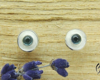 Small studs of Silver 925 / - with blue tourmaline