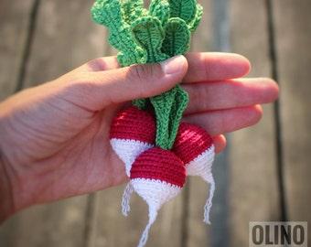 RADISH Crochet Pattern PDF - Crochet radish pattern Amigurumi radish Crochet vegetables patterns Amigurumi food patterns Play Food Radish