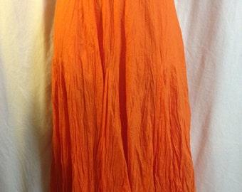 Fall Orange Skirt, Halloween skirt, boho skirt, Tommy Hilfiger skirt,