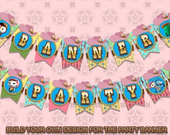 Sheriff Callie - Banner Party - 186 pdf files 300 dpi letter size Sheriff Callie Party