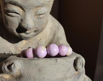 Purple Milk - Glow in the Dark - Beaded Bracelet