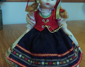 Vintage Madame Alexander Polish Doll With Stand
