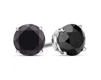 6mm Black Spinel Earrings 925 Sterling Silver Earrings Black Spinel Stud Earrings Faceted Gemstone Post Earrings Jewelry black stud earrings