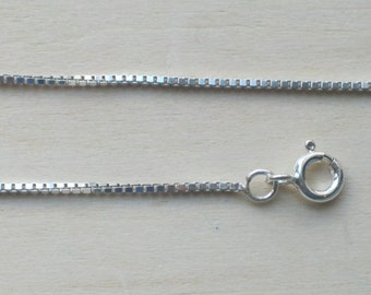 "925 Sterling Silver Box Chain Bracelet Necklace Ankle Chain Anklet 6"" - 30"""