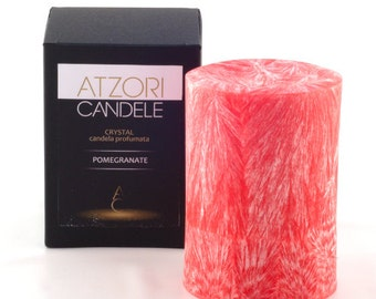 Pomegranate scented pillar candle