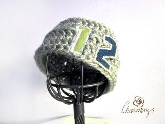 HEADBAND- Seahawks 12th Man Crochet Headband, Ear Warmer, Ear Cozy, Ear Gator, Football, Team Color, Sport Fan Apparel, NFL