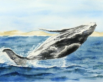 Humpback Whale Jumping - Original
