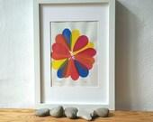 Linoldruck, Stempeldruck, abstrakte Monoprint, Linoldruck, original-Artworks, abstrakte Kunst Druck, Printart, minimalistischen Druck, moderne Kunst