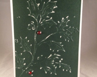Set of 5 Holly CLASSIC Christmas Cards