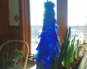 Tumbled Sea Glass Tabletop Tree