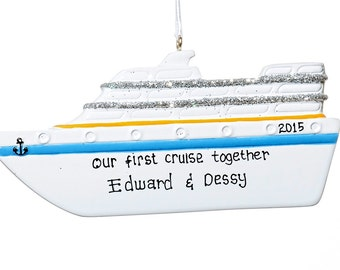 Personalized Ornament-Cruise ship-Free Gift Bag Included!