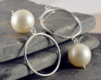 Silver earrings women's earrings jewelry earrings 925 gift SOR108