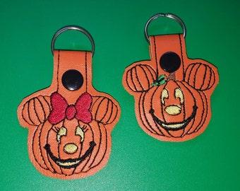 Mouse Jack O Latern Key Fob set