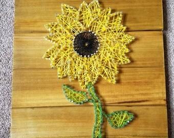 String art sunflower