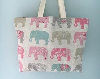 Elephant Shopping Tote Bag